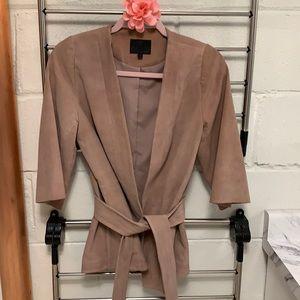 💝 Intermix blush leather blazer